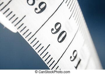 mesurer, gros plan, bande