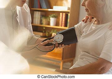 mesurer, les, tension artérielle