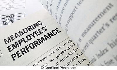 mesurer, performance, employé