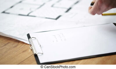 mesurer, plan, haut, mains, fin, mâle