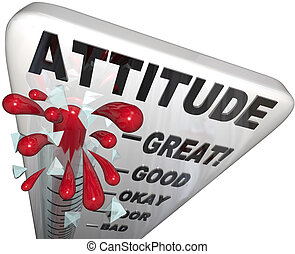mesurer, positivité, attitude, reussite, thermomètre