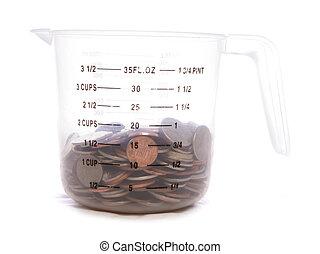 mesurer, sterling, argent, cruche, anglaise