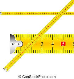 mesurer, vecteur, bande