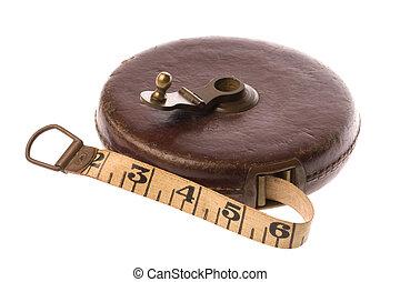 mesurer, vendange, bande, isolé