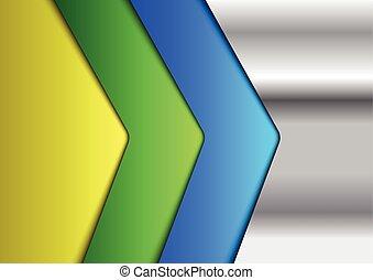 metálico, coloridos, infographic, fundo