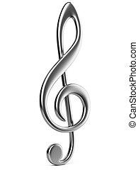 metálico, nota música, key.
