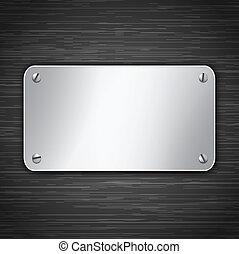 metálico, tabuleta