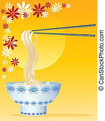 metélt tészta, kínai