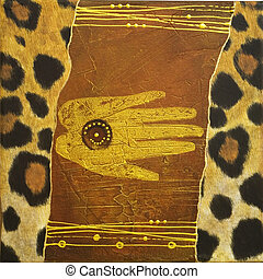 met de hand gemaakt, afrika, kunstwerk
