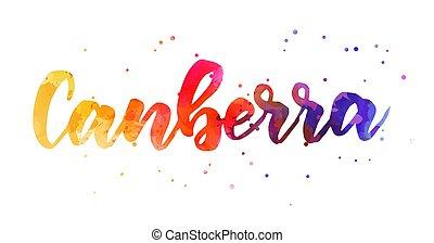 met de hand geschreven, -, canberra, lettering