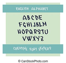 met de hand geschreven, lettertype, karakter, symbolen