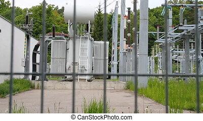 met hoog voltage, transformator, substation