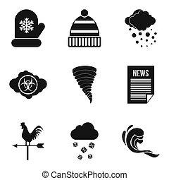Met office icons set, simple style