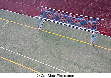 meta, campo, sobre, futbol