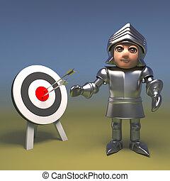 meta del tiro con arco, el suyo, medieval, caballero, ...