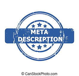 Meta Description Stamp with stars isolated on a white...