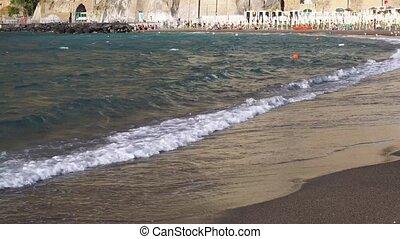 Meta di Sorrento, southern Italy - beach and bay of Meta di...