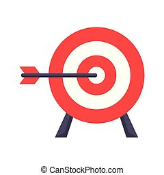 meta, disparando, caricatura, objetive, blanco