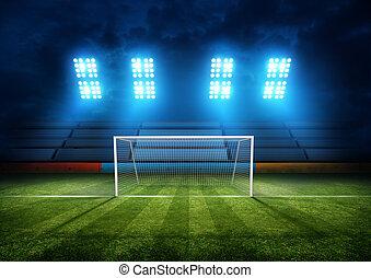 meta futebol americano, estádio