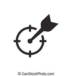 meta, negócio, ícone