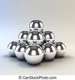 meta, sfere, 3d