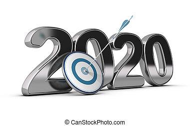meta, término, largo, o, medio, 2020