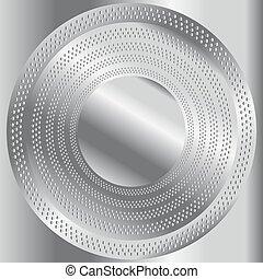 metaal, circulaire, geborstelde, textuur