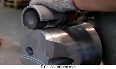 metaal, details, industriebedrijven, beveling