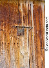 metaal, deur, achtergrond