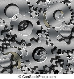 metaal, dimensionaal, 3, repeatable, toestellen, seamlessly