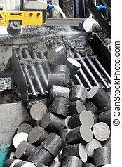 metaal, holle weg, zaag, fabriek