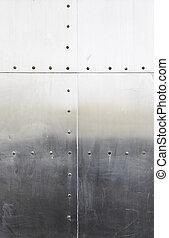 metaal, klinknagelen, achtergrond