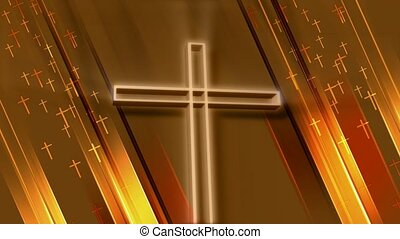 metaal, kruis, goud