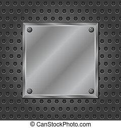 metaal, plank, vector, eps10, illustratie