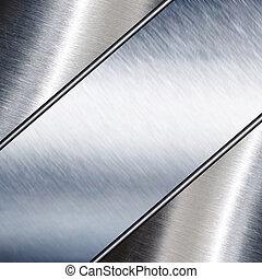metaalplaat, staal, achtergrond., hoi, res, textuur