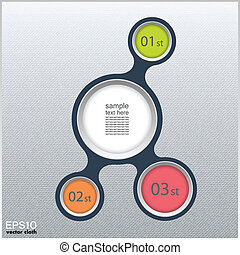 Metaball infographic elements in flat design