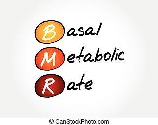 metabolic, tasa, concepto, plano de fondo, basal, bmr, siglas, -