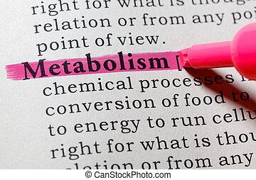 metabolism, definición