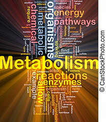 Metabolism metabolic background concept glowing - Background...