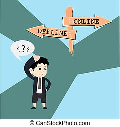 metafora, humor, vs, projektować, online, offline