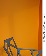 metal abstract chair