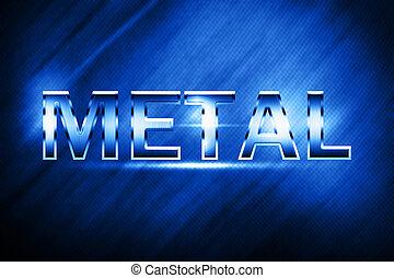 Metal alphabet and symbols