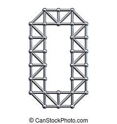 Metal alphabet letter O
