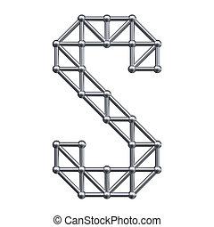 Metal alphabet letter S