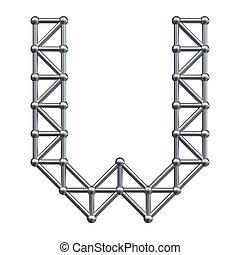 Metal alphabet letter W