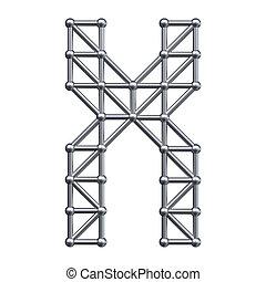 Metal alphabet letter X