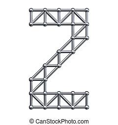 Metal alphabet letter Z