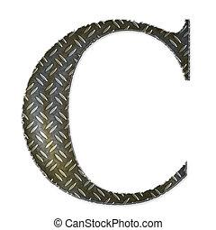 Metal alphabet symbol - C