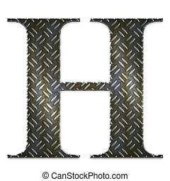 Metal alphabet symbol - H