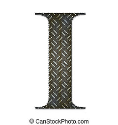 Metal alphabet symbol - I